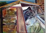 Arrow shed by Richard Liley, Painting, Oil on canvas