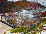 Crinan Harbour; late afternoon by Richard Liley, Painting, Watercolour on Paper