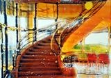 De a Warr Staircase Series 3 by Richard Liley, Artist Print