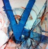Victory V by Richard Liley, Painting, Mixed Media