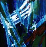 blue shift by Richard Liley, Painting, Acrylic on paper