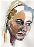 helen water colour portrait by Richard Liley, Painting, Watercolour on Paper